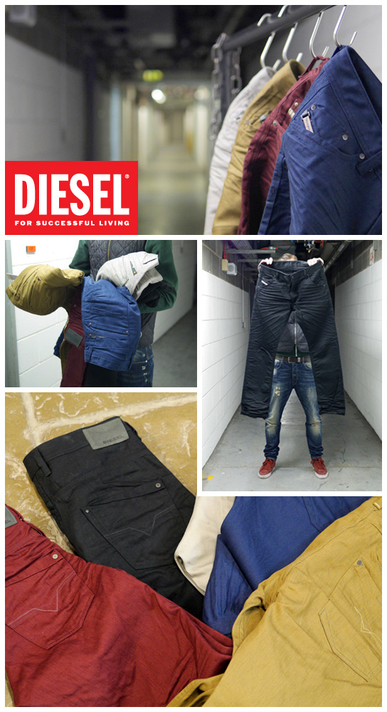 Diesel Does Coloured Denims