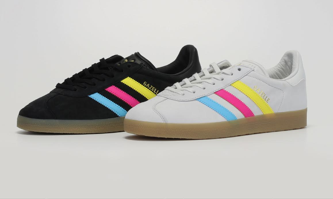 adidas gazelle color stripe