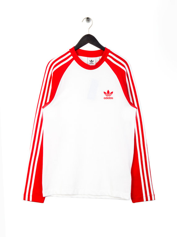 6f24849148 adidas 3-Stripes Long Sleeve T-Shirt Red for Sale | Xile