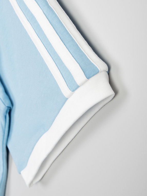 adidas 3 Stripes T-Shirt Light Blue