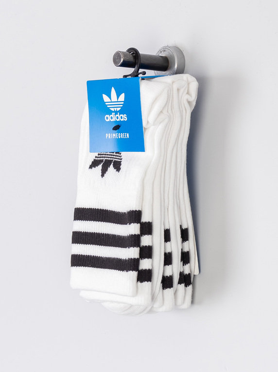 adidas Mid Cut Crew Sock 3 Pack White