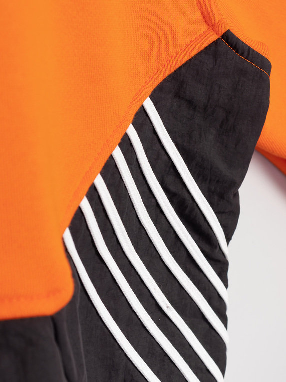 adidas TLM Crew Sweat Orange Black