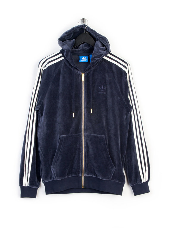 adidas velour zip up hoody blue adidas sweats. Black Bedroom Furniture Sets. Home Design Ideas