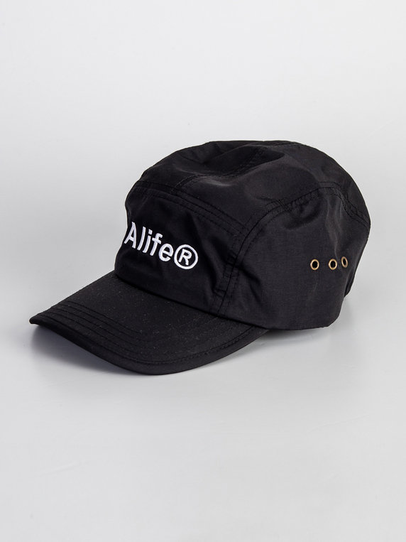 Alife Five Panel Generic Logo Hat Black