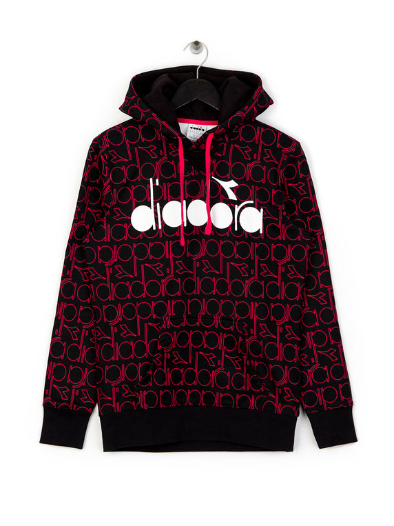 c7f6d3f9 Diadora All Over Logo Hoodie Red for Sale | Xile