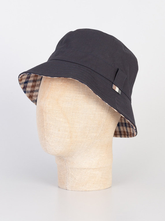 e0e9bd202383f Aquascutum Reversible Bucket Hat Navy for Sale