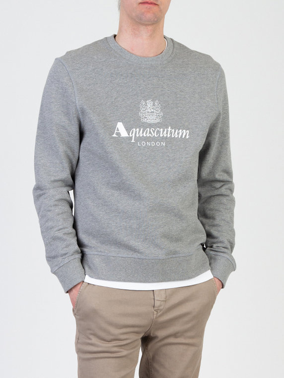 Aquascutum Waterfield Sweat Grey