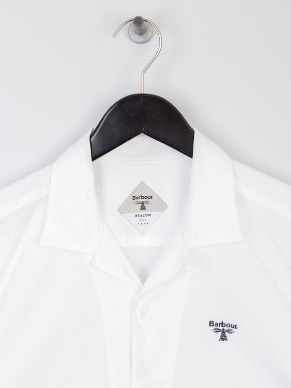 Barbour Beacon Acton Short Sleeve Shirt White