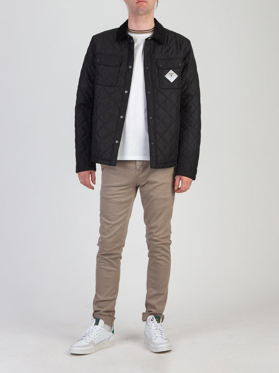 Barbour Beacon Aken Quilted Jacket Black