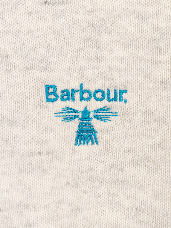 Barbour Beacon Logo Crew Knit Ecru