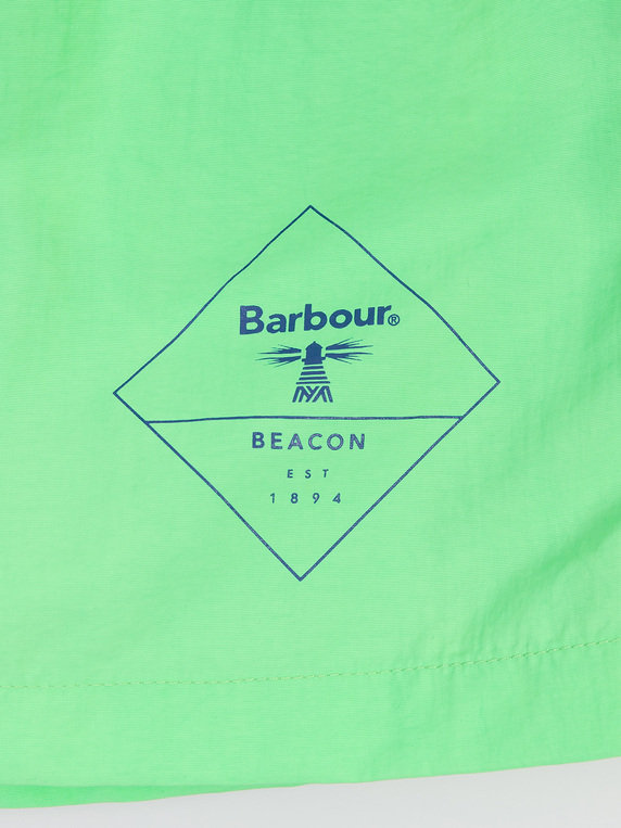 Barbour Beacon Logo Swim Shorts Green