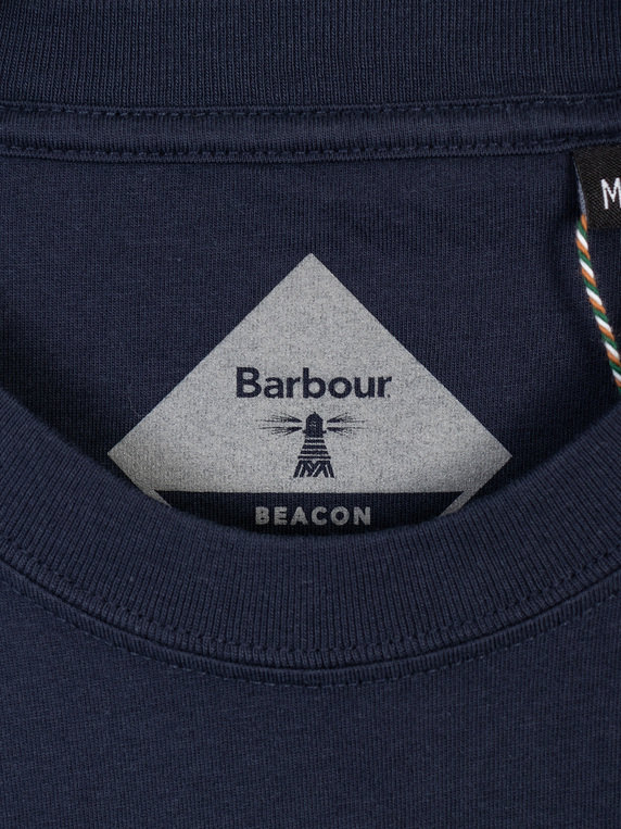 Barbour Beacon Logo T-Shirt Navy