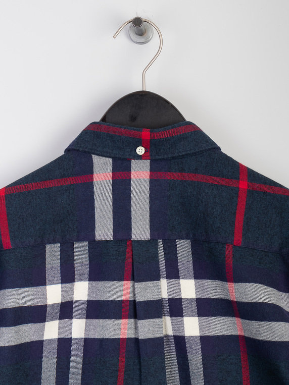 Barbour High Check Shirt Navy