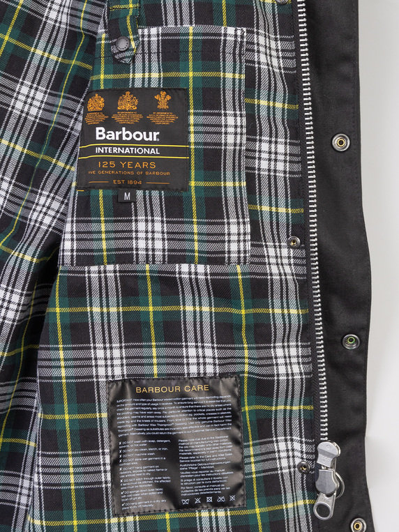 Barbour Icons International Wax Jacket Black