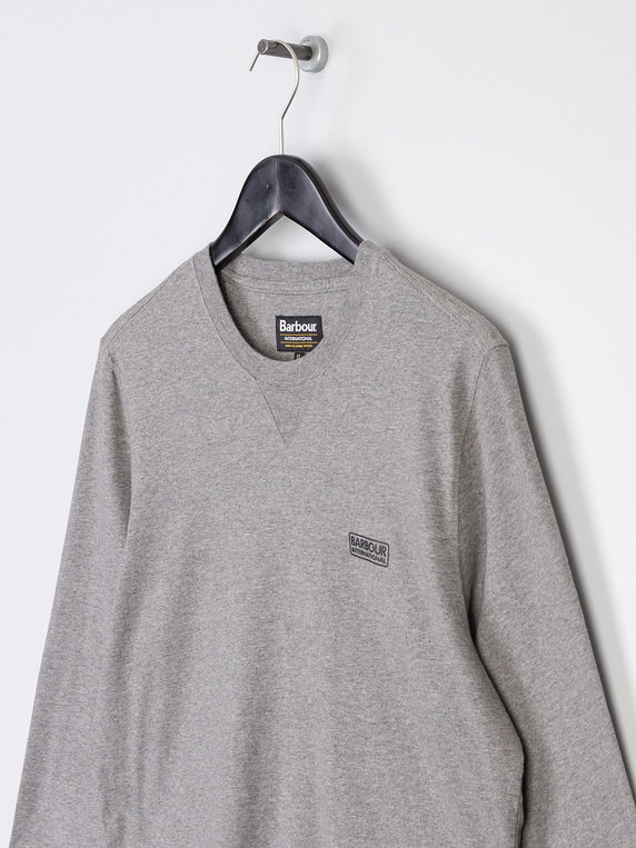 Barbour International Long Sleeve Logo T-Shirt Anthracite