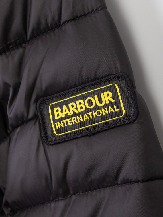 Barbour International Ouston Hooded Quilt Black