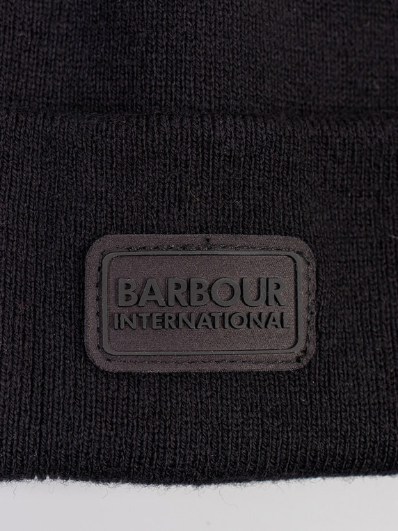 Barbour International Sensor Beanie & Scarf Set Black