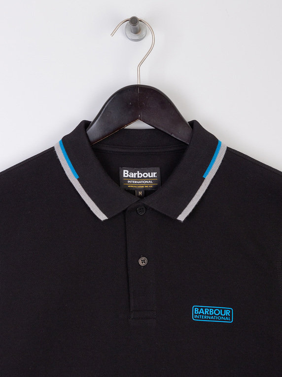 Barbour International Twin Tipped Polo Shirt Black
