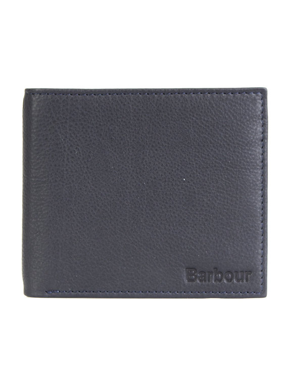 f2d6a015 Barbour Leather Billfold Wallet Dark Navy for Sale | Xile
