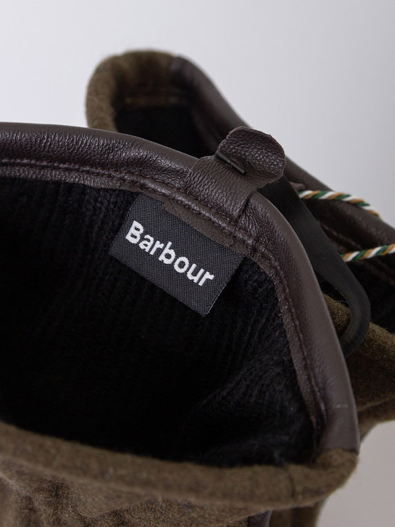 Barbour Milton Wool Gloves Olive
