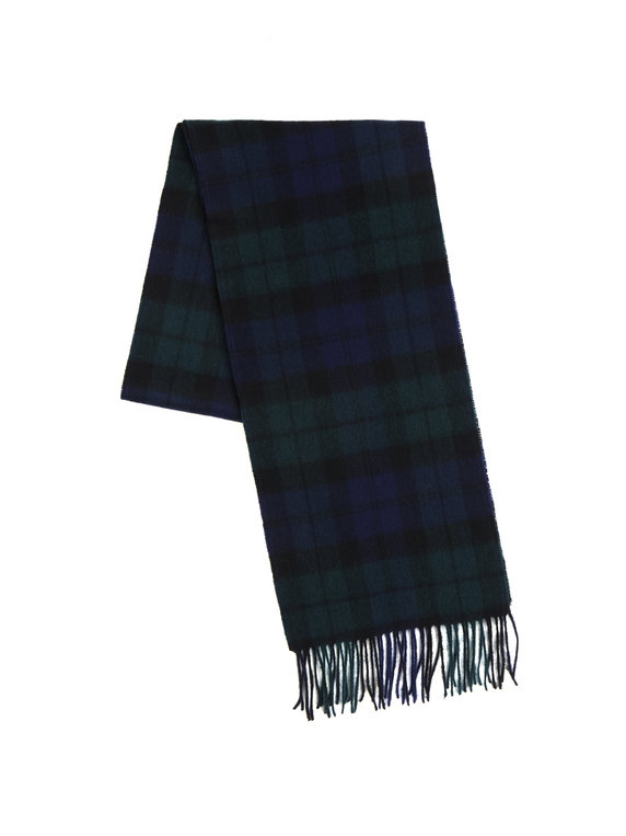Barbour New Check Tartan Scarf Navy