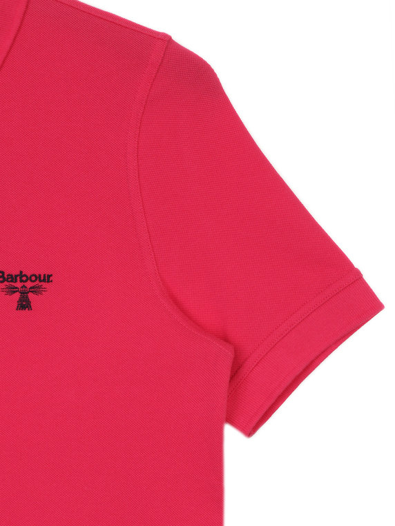 Barbour Beacon Polo Shirt Pink