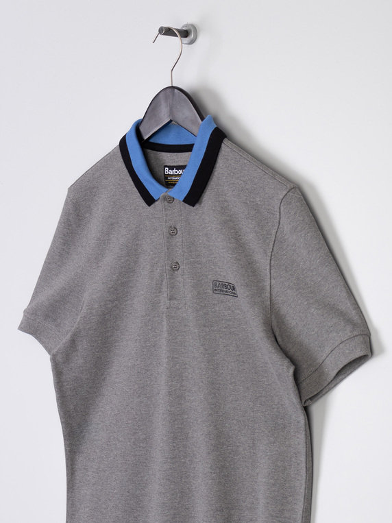 Barbour International Ampere Polo Grey