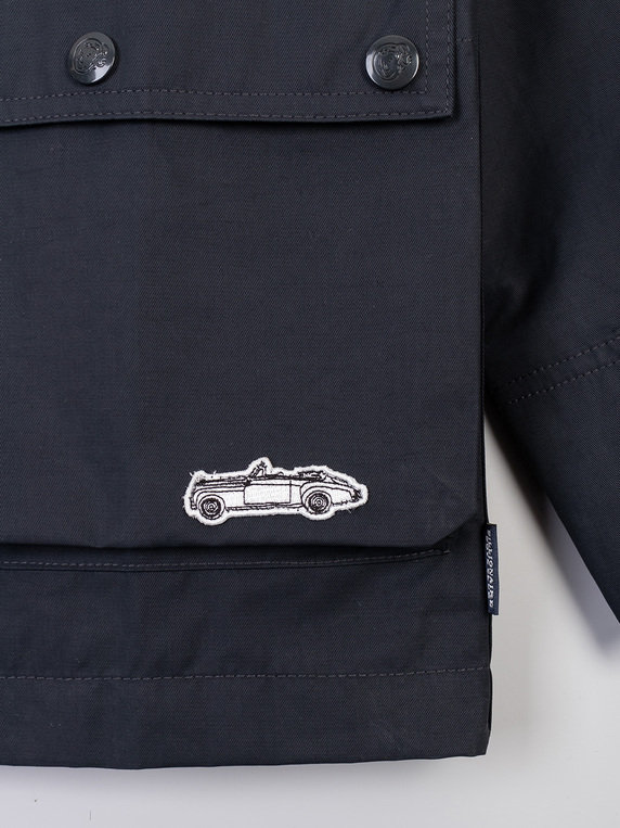 Billionaire Boys Club Contrast Collar Raincoat Navy