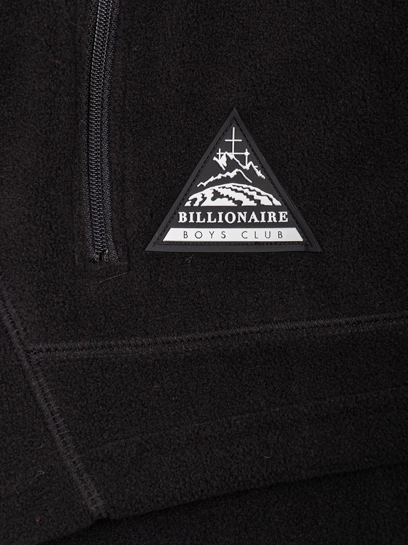 Billionaire Boys Club Contrast Zip Through Fleece Black