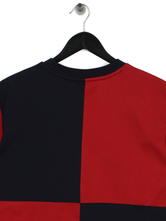 Billionaire Boys Club Diagonal Cut & Sew T-Shirt Red/Blue