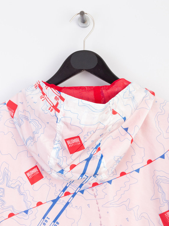 Billionaire Boys Club Nautical Print Nylon Windbreaker Jacket White