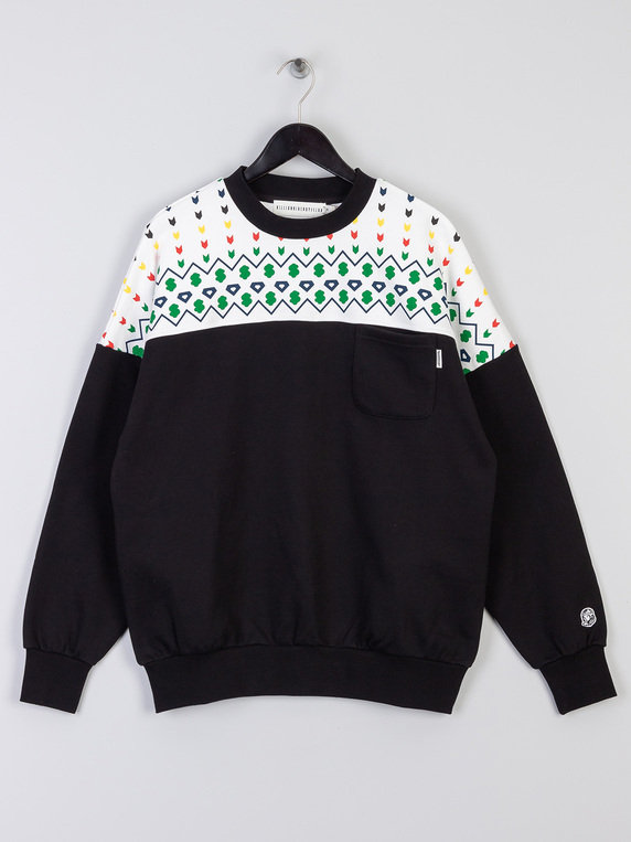 Billionaire Boys Club Panelled Crewneck Sweat Black