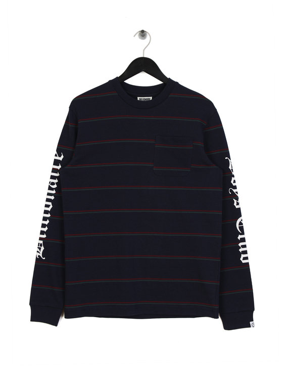 26e083194f3 Billionaire Boys Club Striped Long Sleeve Pocket T-Shirt Navy for Sale |  Xile