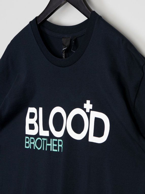 Blood Brother Trademark T-Shirt Navy