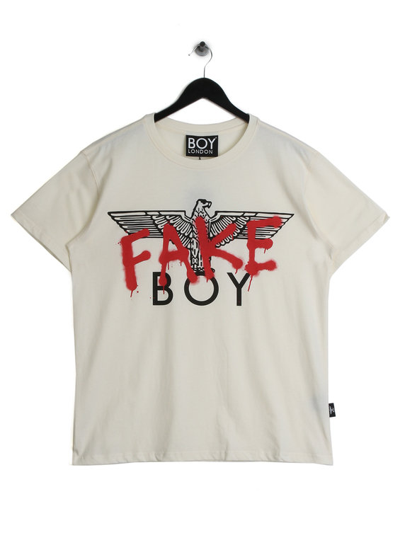 BOY London Fake T-Shirt Off White for Sale  d2917d02dd87