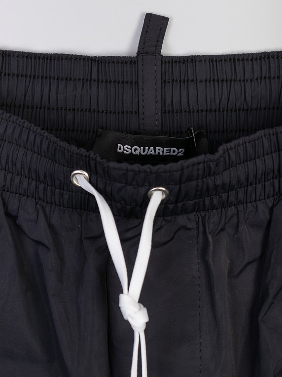 Dsquared2 Large Logo Swim Shorts Black/Yellow