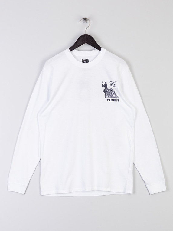 Edwin Shinobii Long Sleeve T-Shirt White