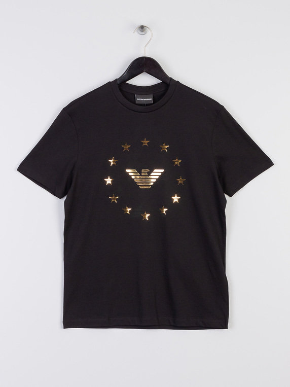Emporio Armani Eagle & Star T-Shirt Black
