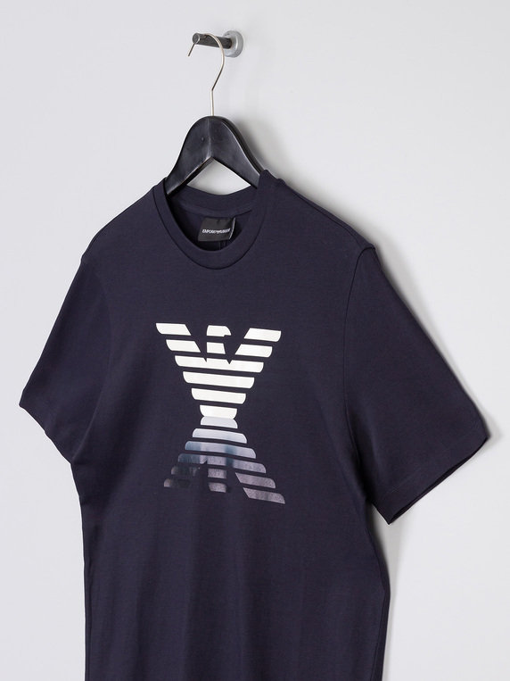 Emporio Armani Mirror Eagle T-Shirt Navy
