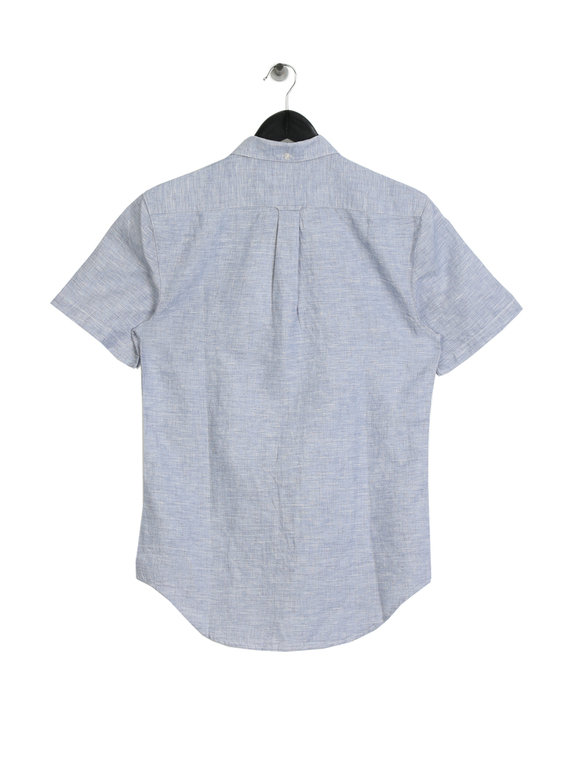 Farah Bresson Short Sleeve Shirt Blue