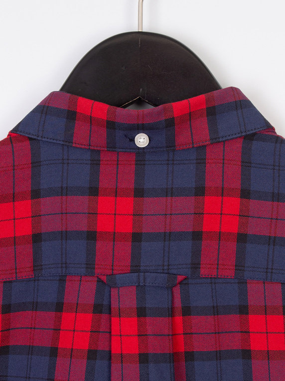 Farah Brewer Checked Long Sleeve Shirt Red