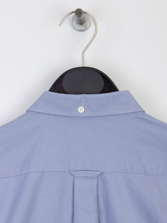 Farah Brewer Long Sleeve Shirt Steel Blue