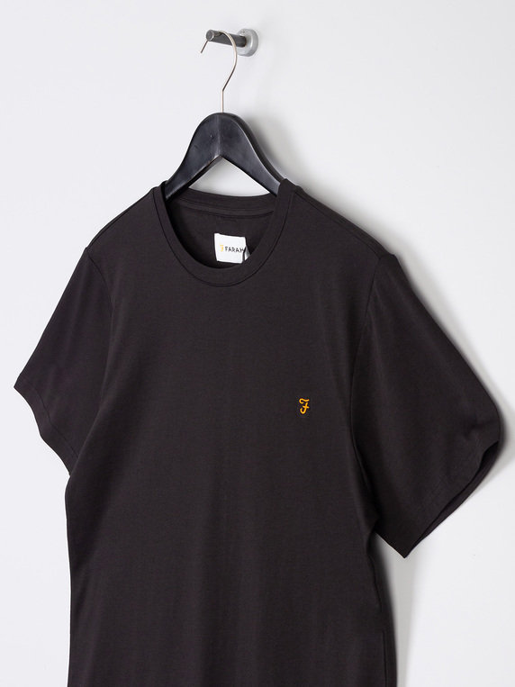 Farah Denny Slim Solid T-Shirt Black