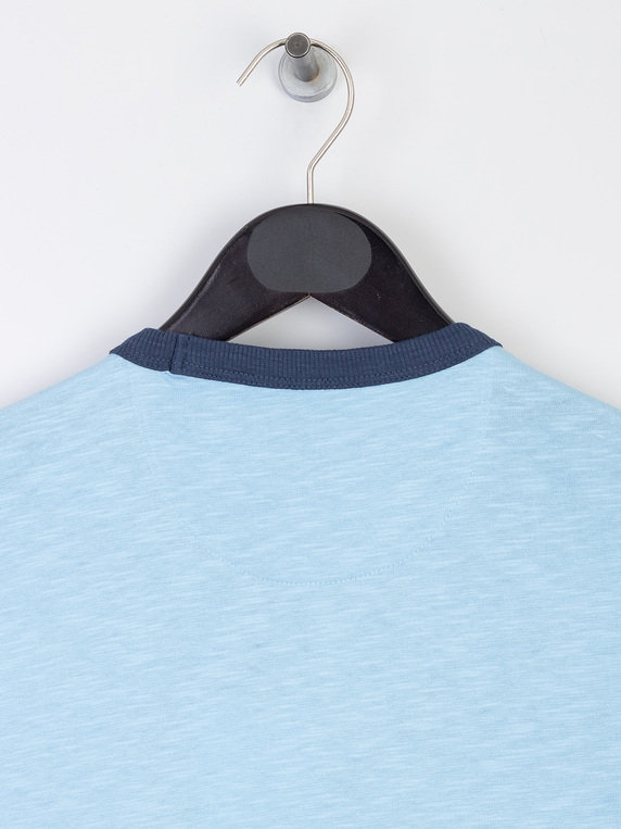 Farah Groove Pocket T-Shirt Sky Blue
