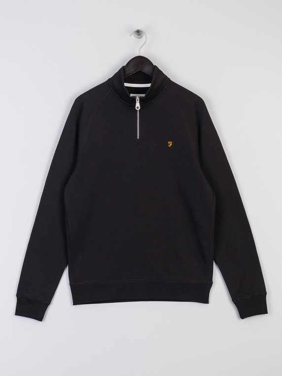 Farah Jim 1/4 Zip Sweat Black
