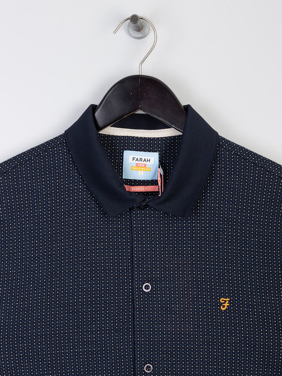 Farah Nino Short Sleeve Polo Navy