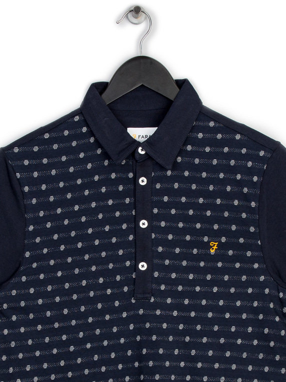 Farah Oakdale Short Sleeve Polo Navy