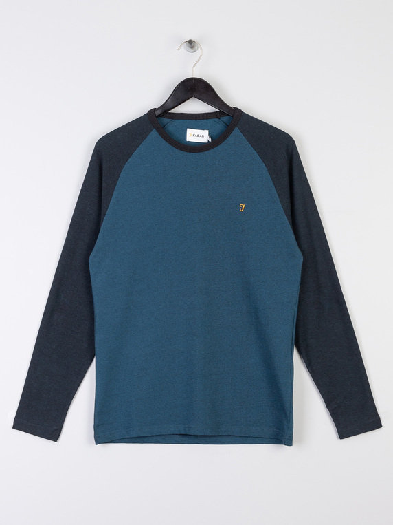Farah Redington Raglan Long Sleeve T-Shirt Teal