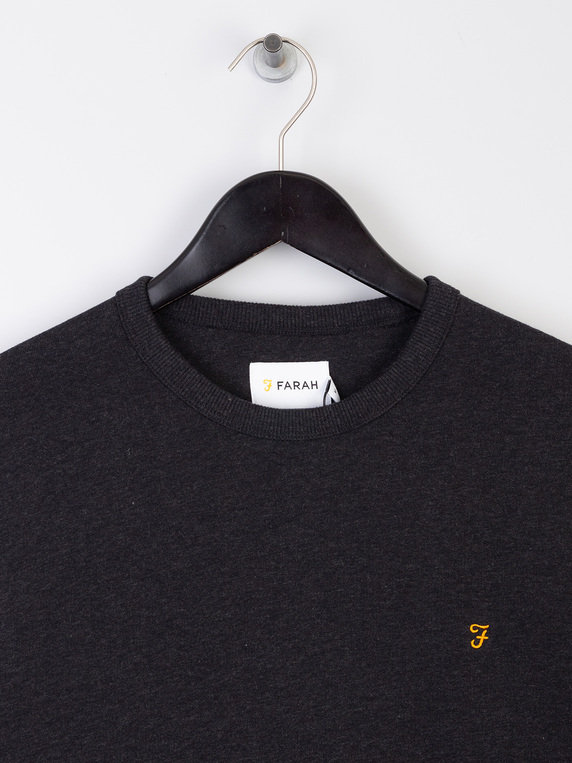Farah Tim Crew Sweat Shirt Black
