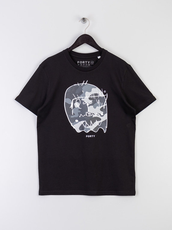 Forty Benjamin T-Shirt Mono Black